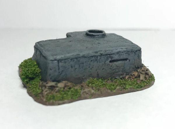(6mm) Observation Bunker with Tobruk (pack of 2)