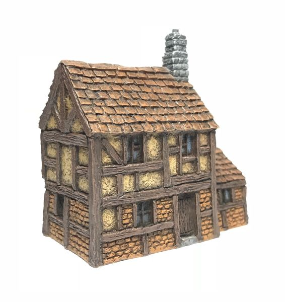 (10mm) Two Storey Half-timbered Townhouse (10B004)