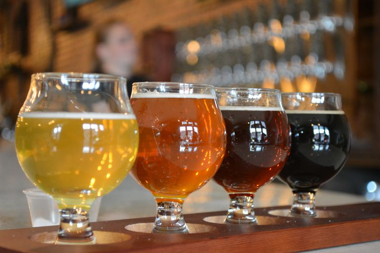Beer flight local family owned craft brewery Oxford Michigan 48371