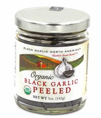 "Black Garlic ""Organic American"" 5 oz Peeled"