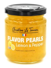 Christine Le Tennier Lemon and Pepper Flavor Pearls, 7oz Jar
