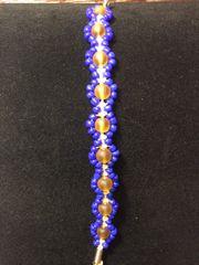 7 inch Bracelet Blue Amber