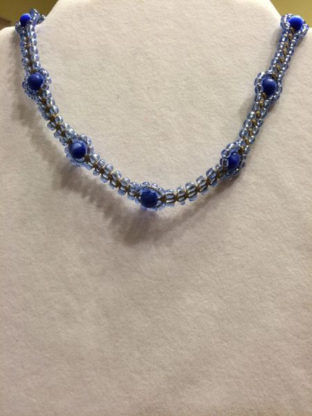 16 inch Necklace Blue