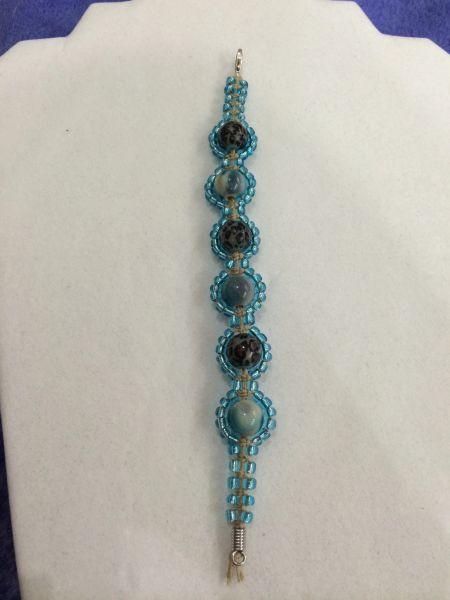 7 inch Bracelet Blue Brown