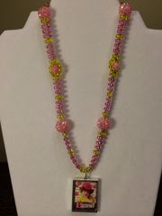 18 inch Necklace Pink with B Yourself Pendant