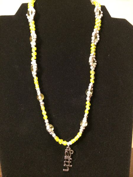 20 inch Necklace Yellow with Faith Pendant