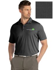 Antigua Short Sleeve #104319 Black Bevel Polo