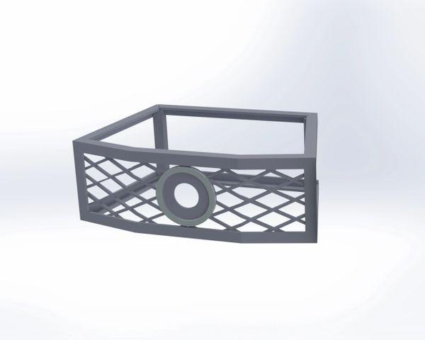 Oberfields® Edington Fire Pit Vents w/gas valve mount - Frameless