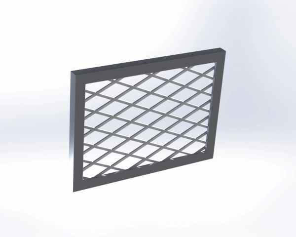 "8"" x 6"" Fire Pit Vent Cover - Frameless"