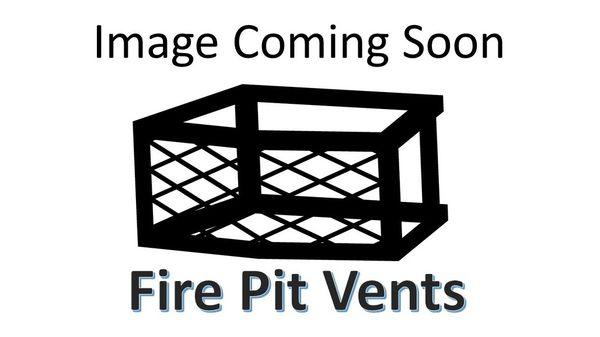 """16"""" x 4"""" x 8"""" Rectangular Fire Pit Vent w/gas valve mount - Frameless"""