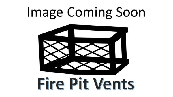 """8"""" Fire Pit Vent w/gas mounting location - Frameless"""