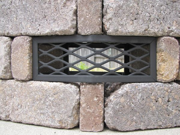 Pavestone® Rumblestone™ Round Fire Pit Vent - Frameless
