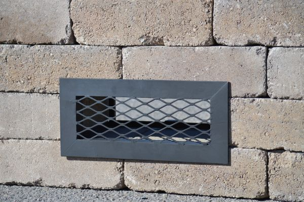 Belgard® Weston Stone® Universal Square Fire Pit Vent - Framed w/o Doors