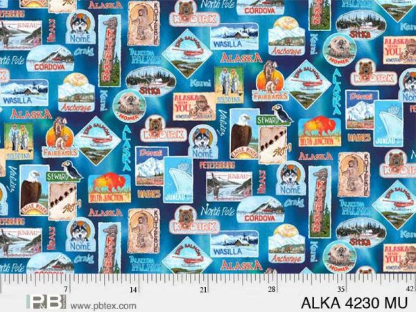 All Over Alaska ALKA 4230 by P&B Textiles