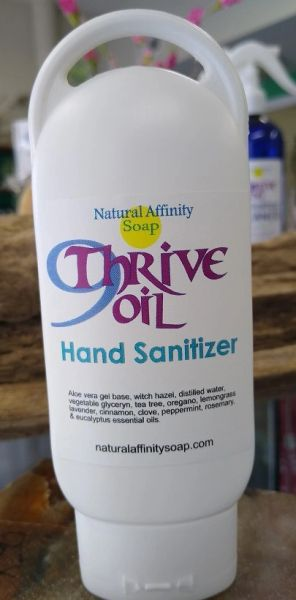 9Thrive Oil Hand Sanitizer refillable travel-size