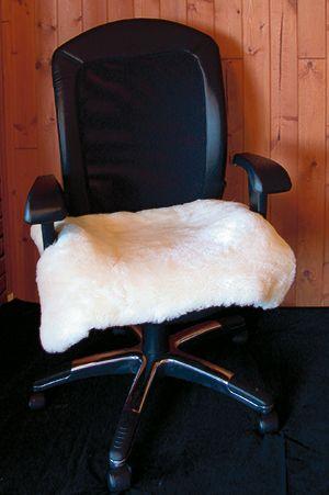 Merino Wool Computer Chair Seat Cover