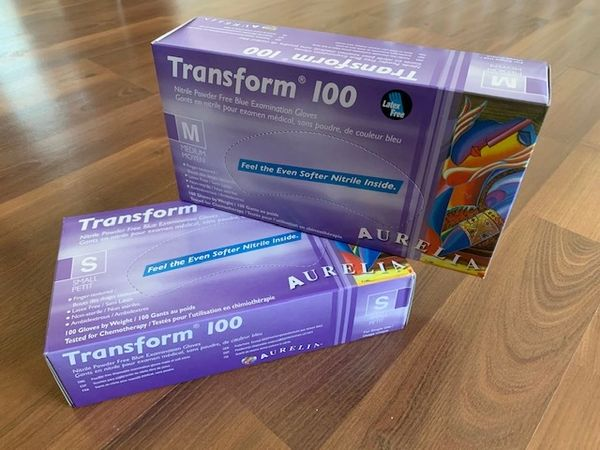 Aurelia Transform 100 Nitrile Powder Free Gloves- Box of 100