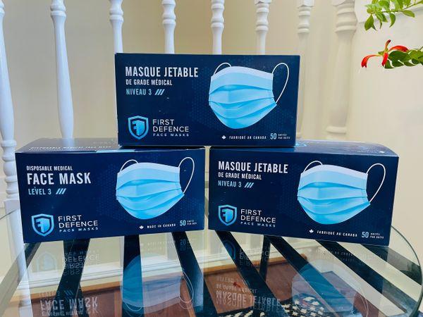 Level 3 Medical face mask box of 50