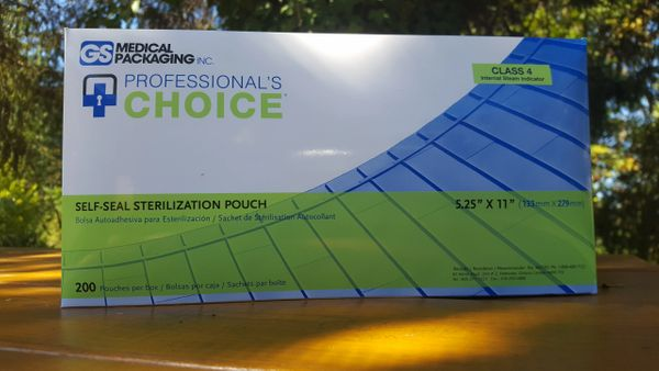 "Professional's Choice Sterilization Pouches 5.25"" x 11"" (200 count)"