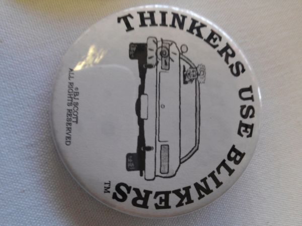 Thinkers Use Blinkers Button 2