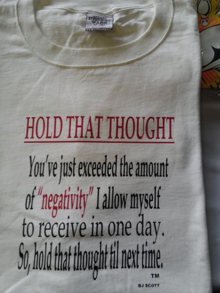 Hold That Thought T-Shirt #1949