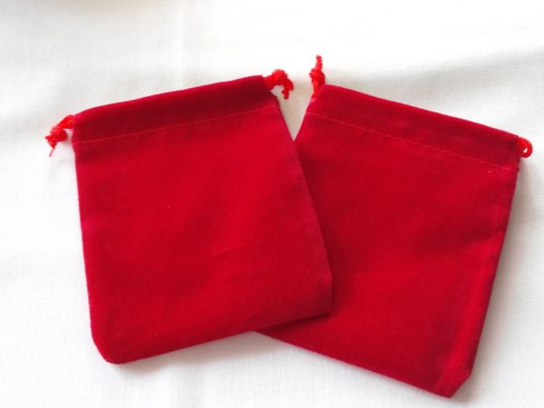 Small Red Velvet Pouches
