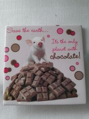 Pig with Chocolate Magnet