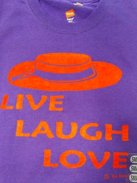 Live , Laugh, Love T-Shirt 1243