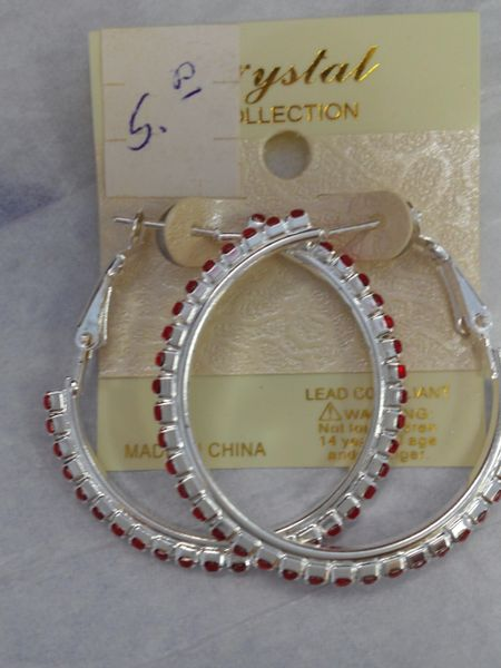 1.5 Red Hoop Earrings