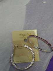 1.5 Purple Hoop Earring