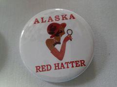 Alaska Red Hatter Button-B