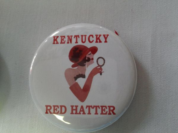 Kentucky Red Hatter Button