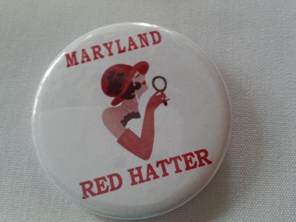 Maryland Red Hatter Button