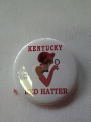 Kentucky Red Hatter Button-B