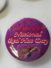 I Celebrated National Red Hat Day Button #2141