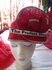 Fancy Soft Red Straw Hat