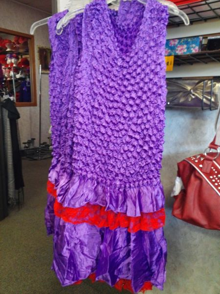 Red and Purple Dress #2222