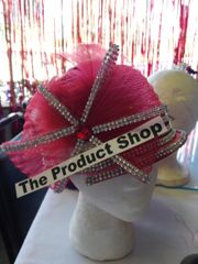 Red Rhinestone Star Bow Hat