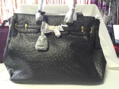 Black Faux Leather Handbag