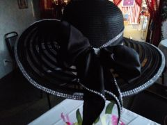 """Black Beauty"" Wide Brim Hat"