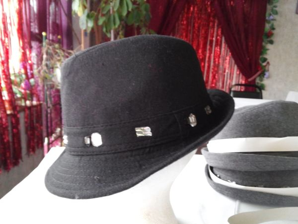 Black Fedora with Rhinestones