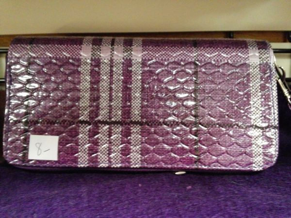Purple Plaid Wallet