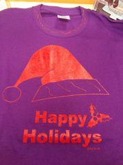 Purple Happy Holidays T Shirt 4203