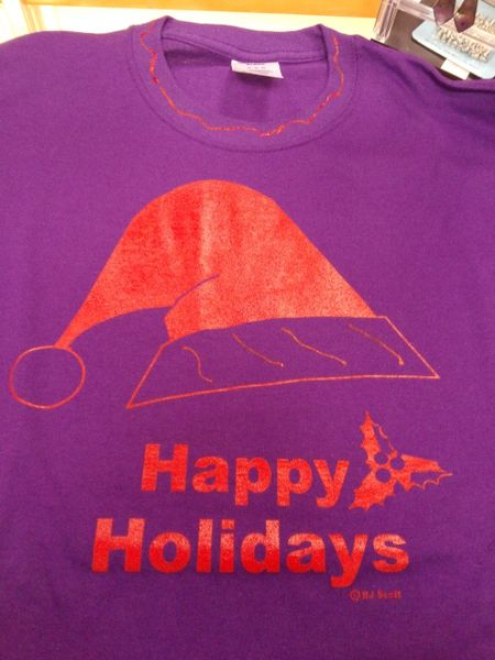 Purple Happy Holidays T Shirt 4203