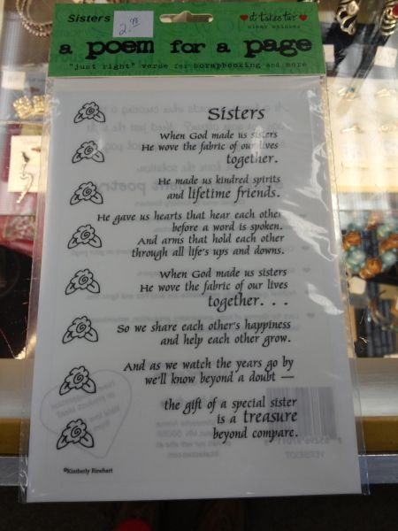 Sisters Poem Sticker