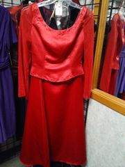 2 PC Red Gown