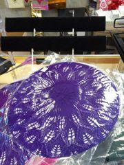 Purple Knit Tam #2637
