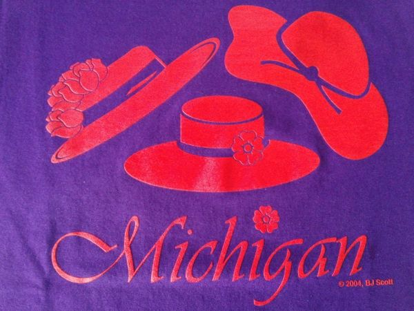 Michigan 3 Hats T-Shirt #1242
