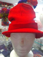 Red Winter Cap with Bib #2687