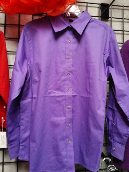 Purple Button Down Shirt #2703